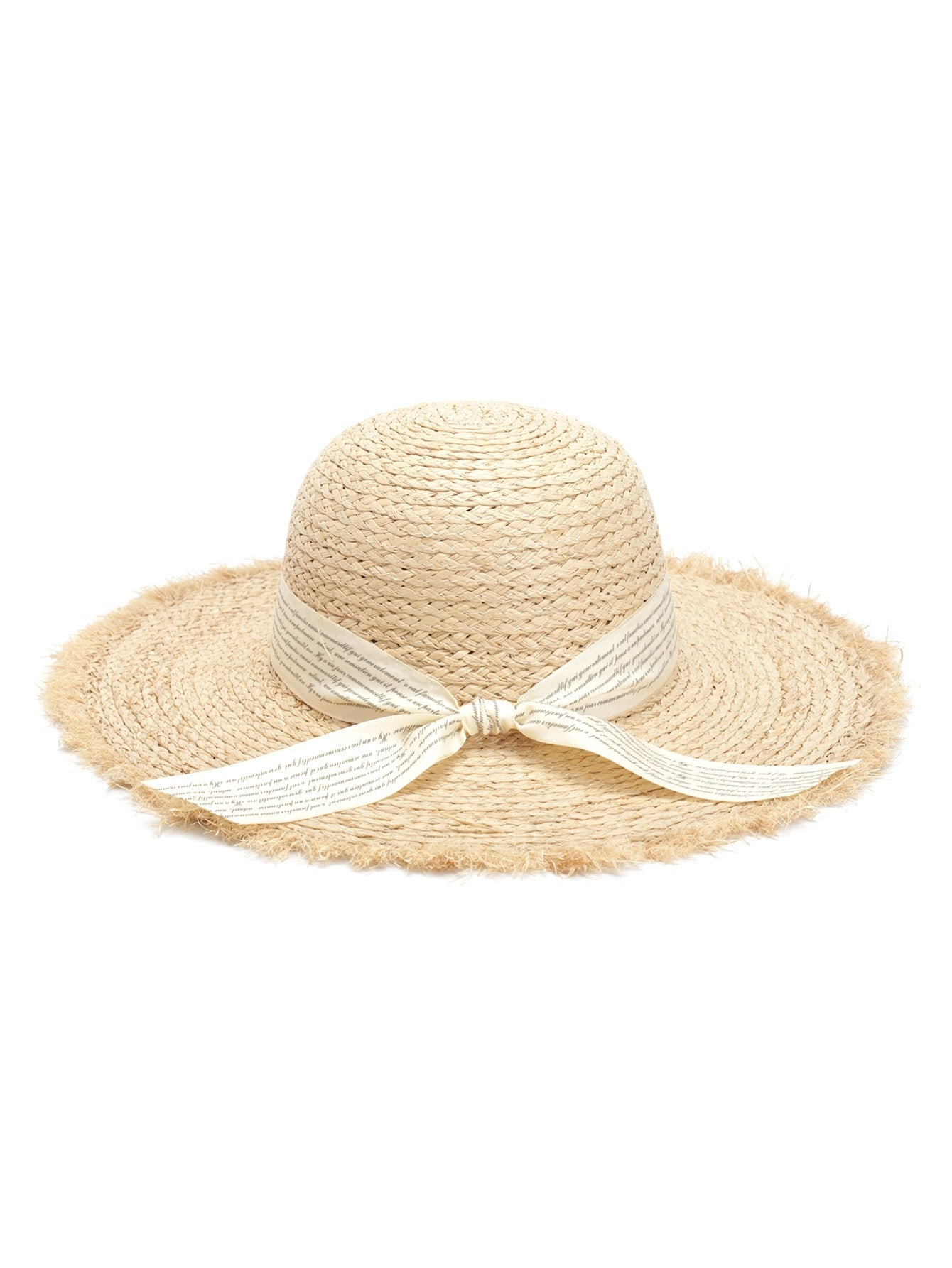 Knot Band Raw Trim Straw Hat stetson men s breakers premium shantung straw hat