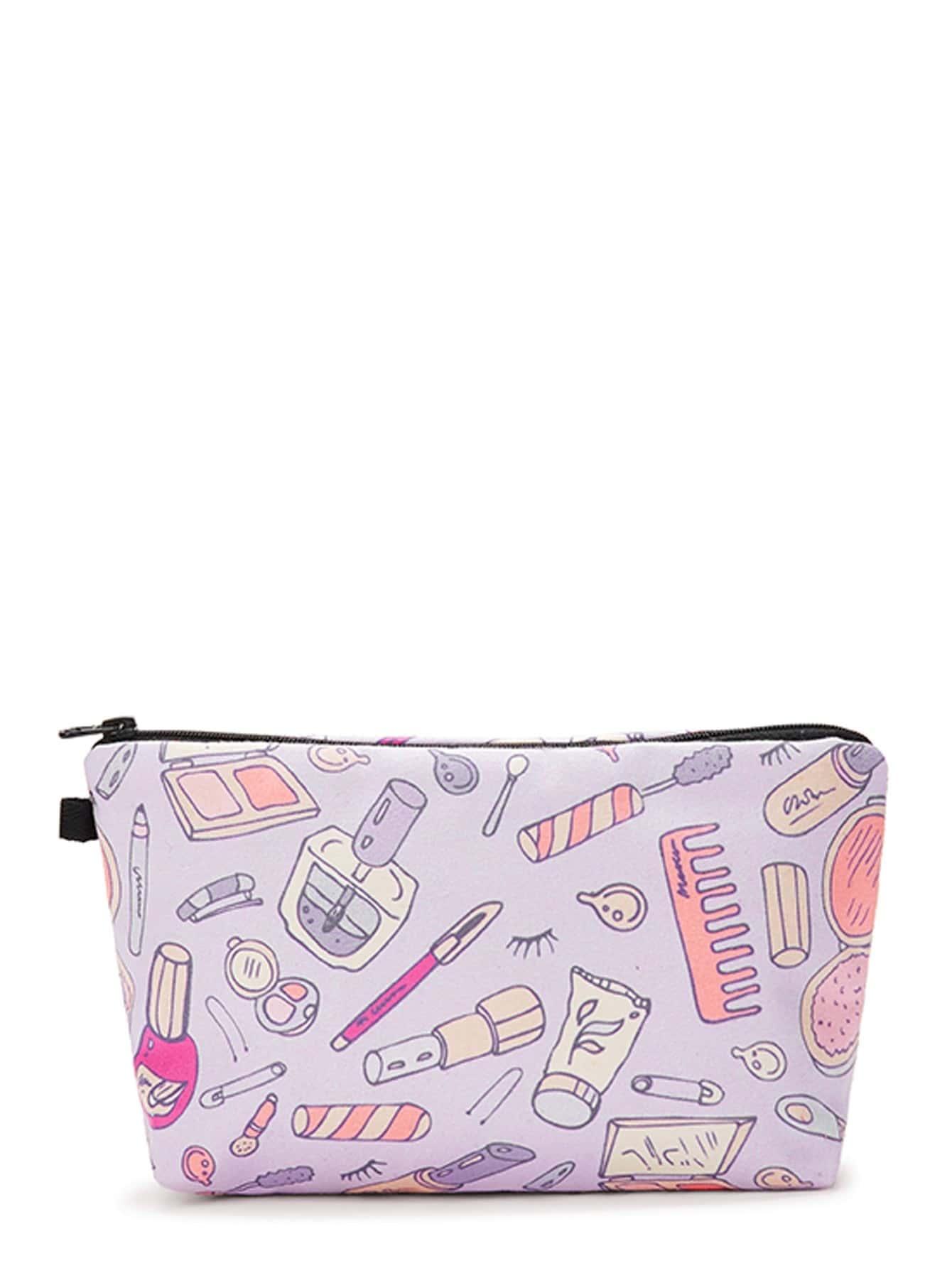 Cosmetic Tool Print Makeup Bag