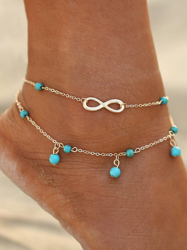 1Pc Boho Anklets Multi Layers Chain Beads Anklets Beach 1pc 6ed1053 1fg00 0ba0