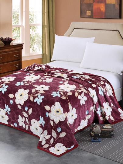 All Over Florals Plush Throw Blanket