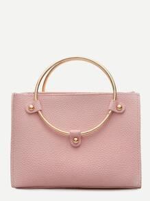 PU Crossbody Bag With Ring Handle