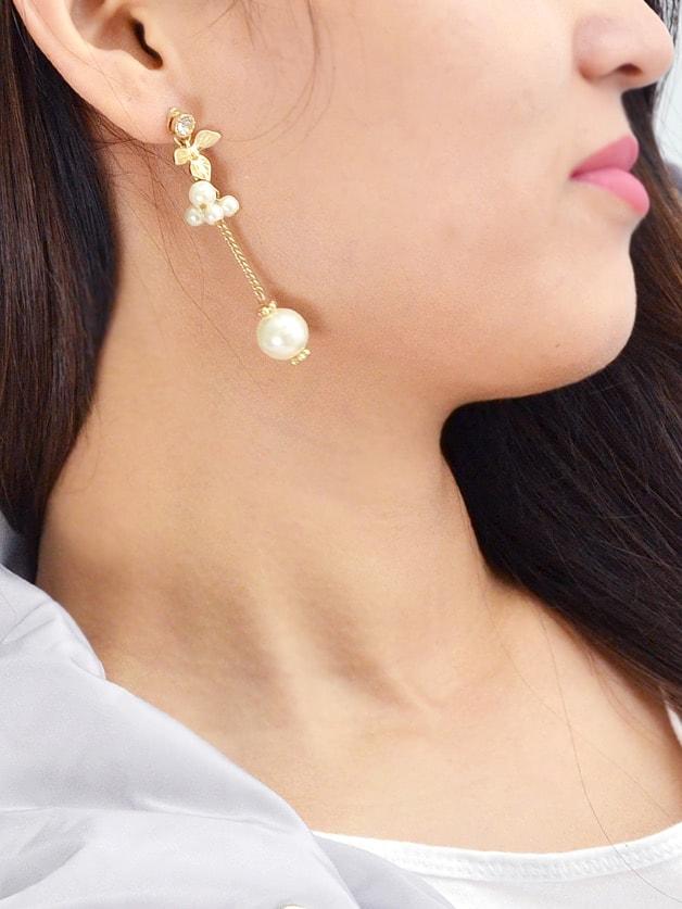 Long Chain Flower Dangle Earrings цена и фото