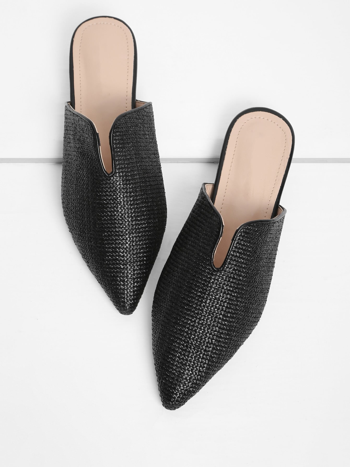 Pointed Toe Woven Flats
