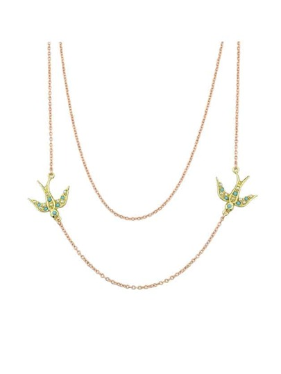 Cute Swallow Two-Layers Necklace