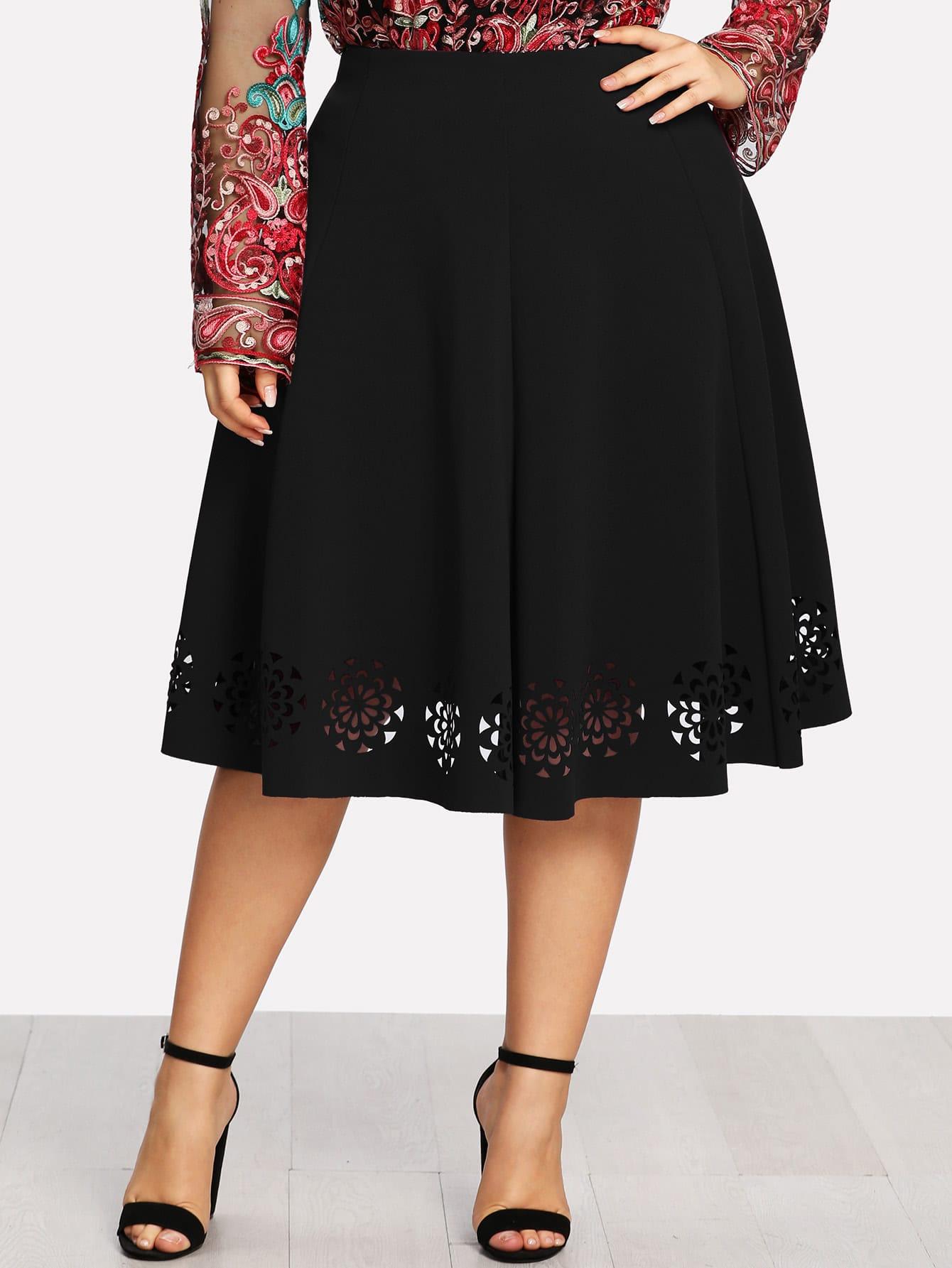 Купить Модная юбка с узором, Franziska, SheIn
