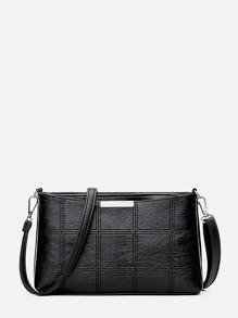 Whipstitch Design PU Shoulder Bag