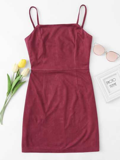 Zip Up Back Cami Dress