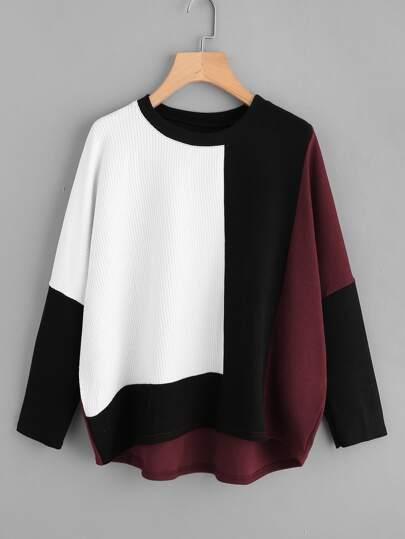 how to cut bottom of sweatshirt