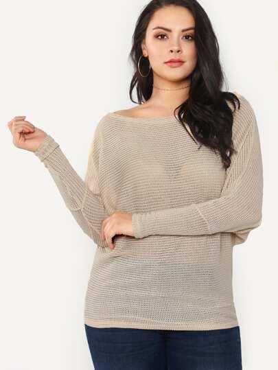 Dolman Sleeve Knit Top STONE