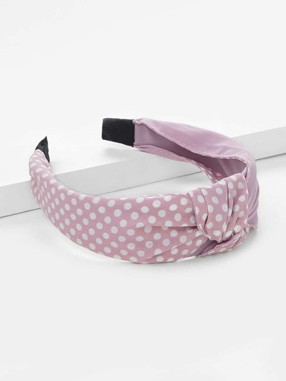 Polka Dot Knot Headband