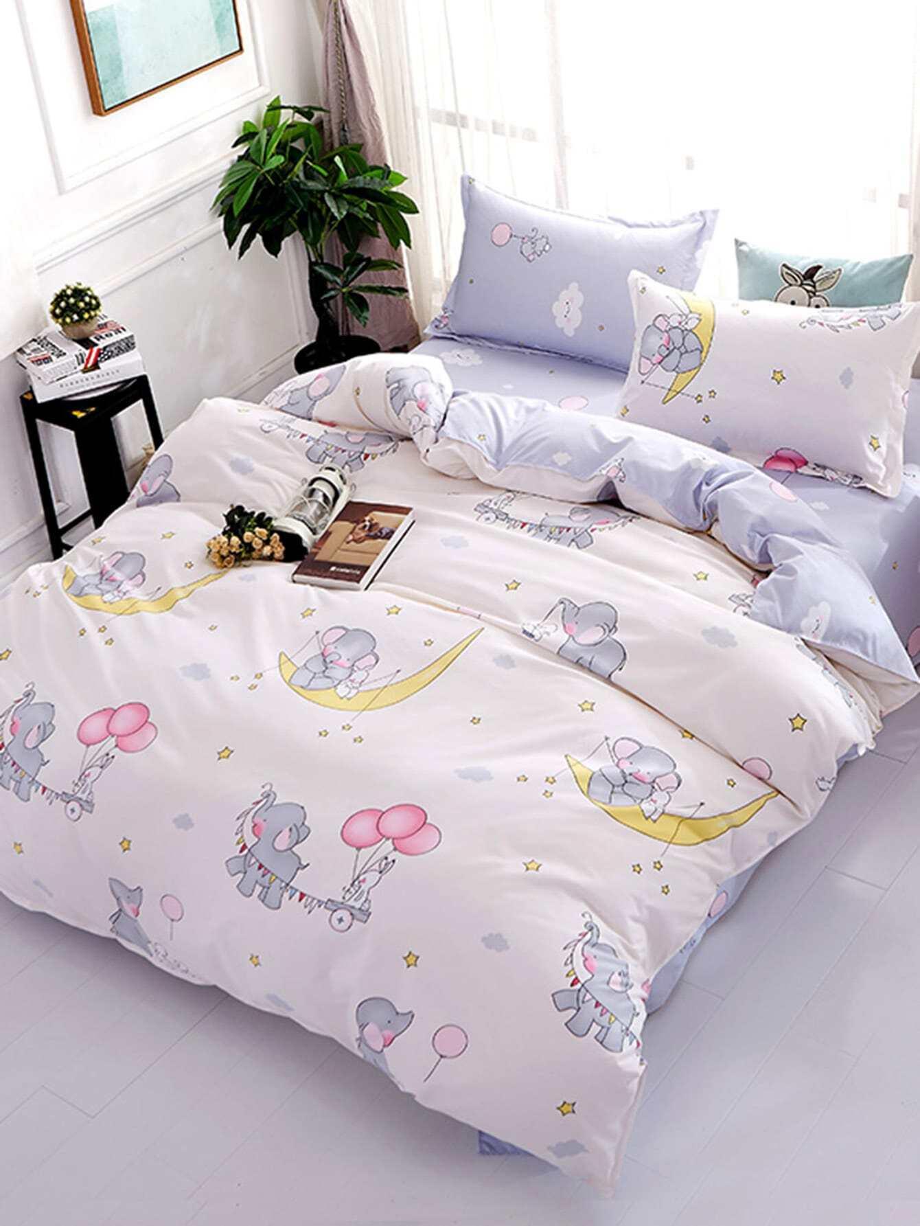 2.0m 4Pcs Cartoon Print Bed Sheet Set бра leds c4 bed 05 2830 34 34