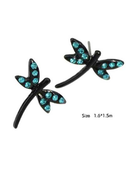 Cute Dragonfly Shape Stud Earrings