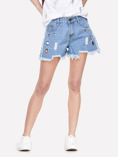 Short denim rasgado