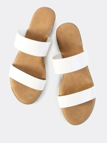 Double Band Slip Ons WHITE