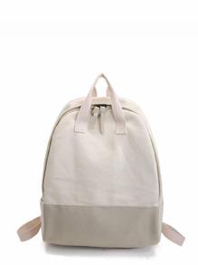 Contrast Panel Backpacks Bag With Handle