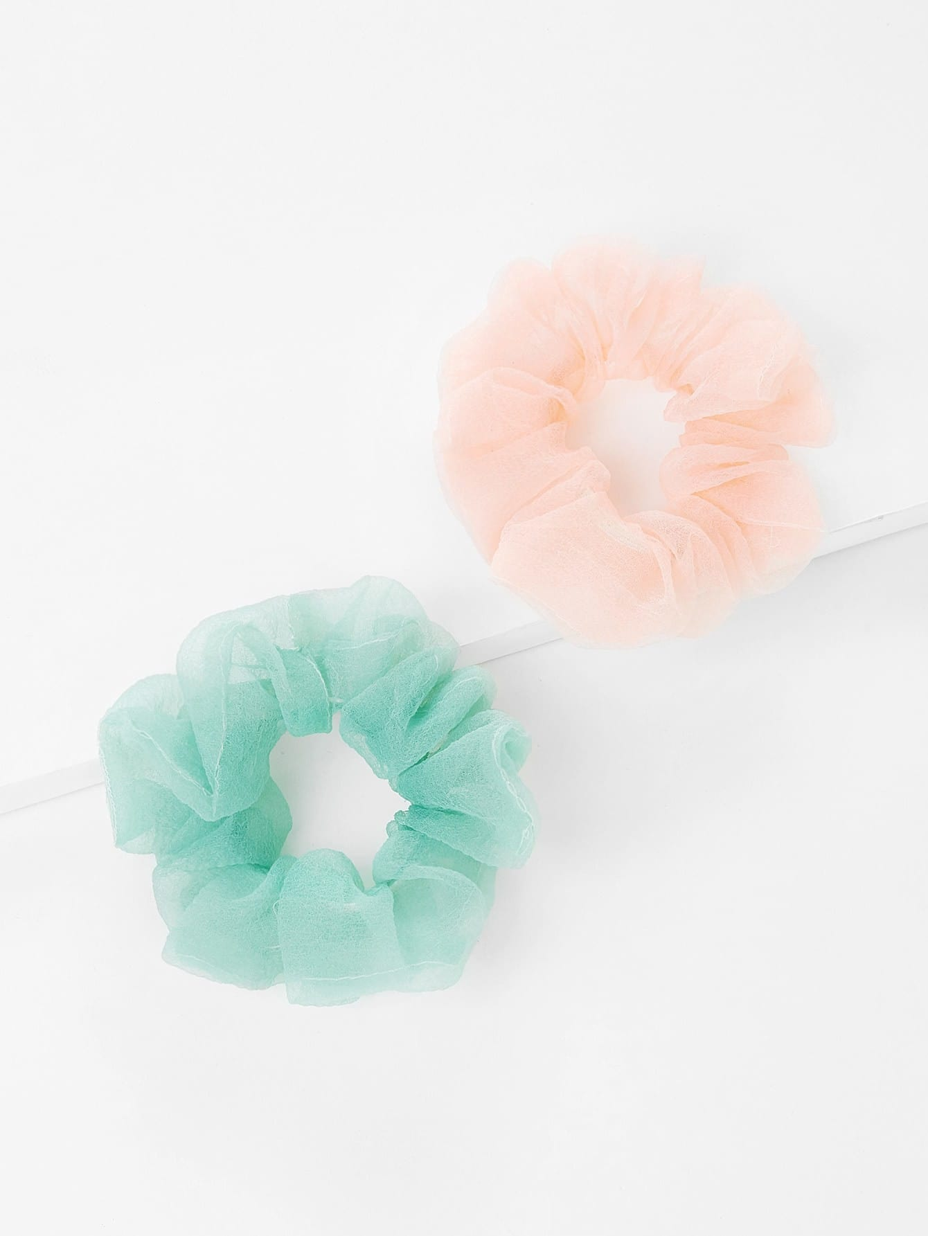 Two Tone Hair Tie 2pcs two tone drop shoulder sweatshirt
