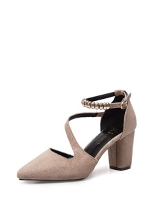 Ankle Strap Chunky Heels