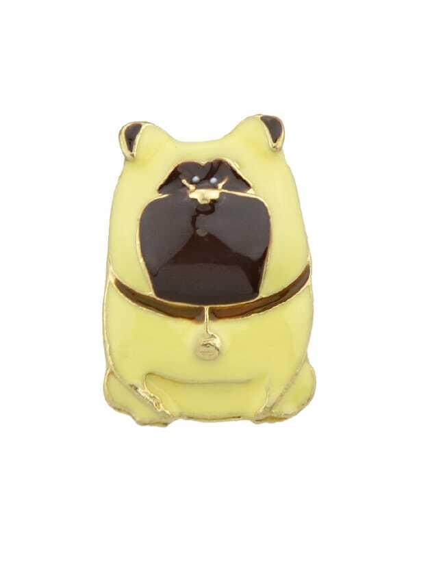 Yellow Cute Cartoon Brooch black cartoon animal brooch