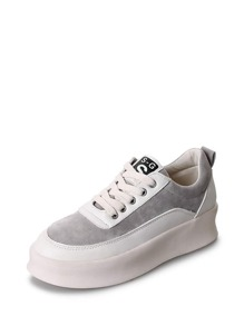 Two Tone Flatform Sneakers