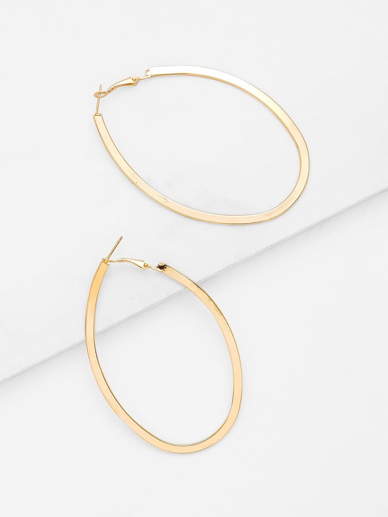 Open Irregular Ring Design Earrings open heart design ring