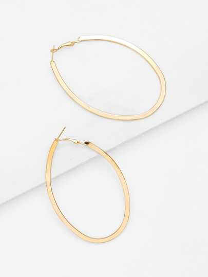 Open Irregular Ring Design Drop Earrings