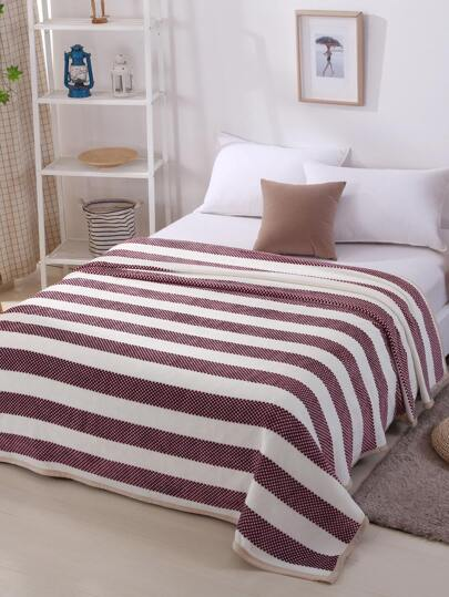 Checkered Panel Plush Blanket