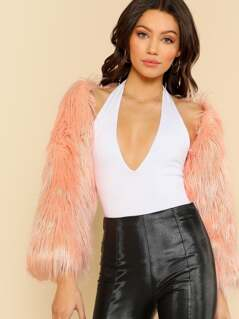 Faux Fur Bolero Jacket