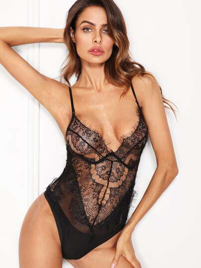 Lace & Mesh Teddy