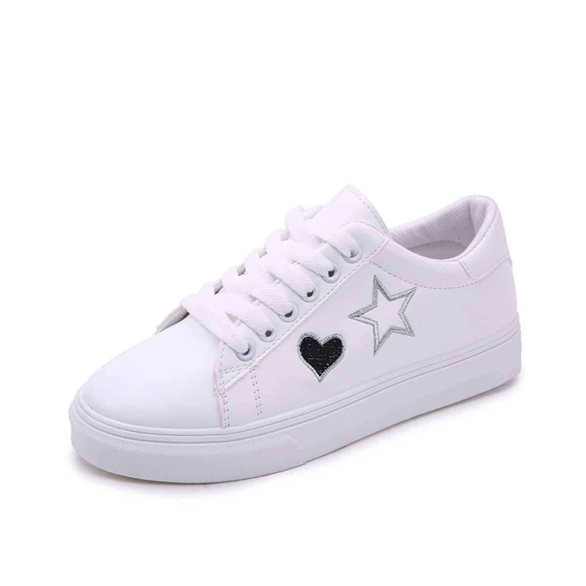 Вышитые с наименьшими топ-кроссовками от SHEIN