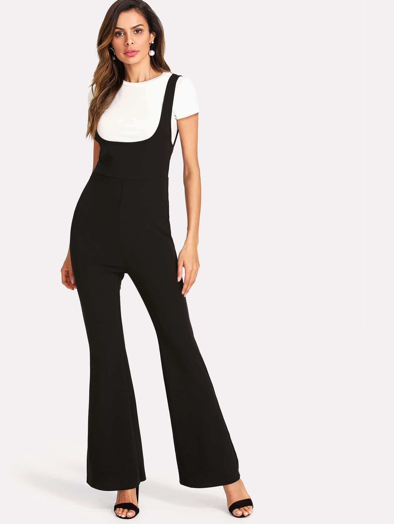 цена Flared Leg Tank Jumpsuit