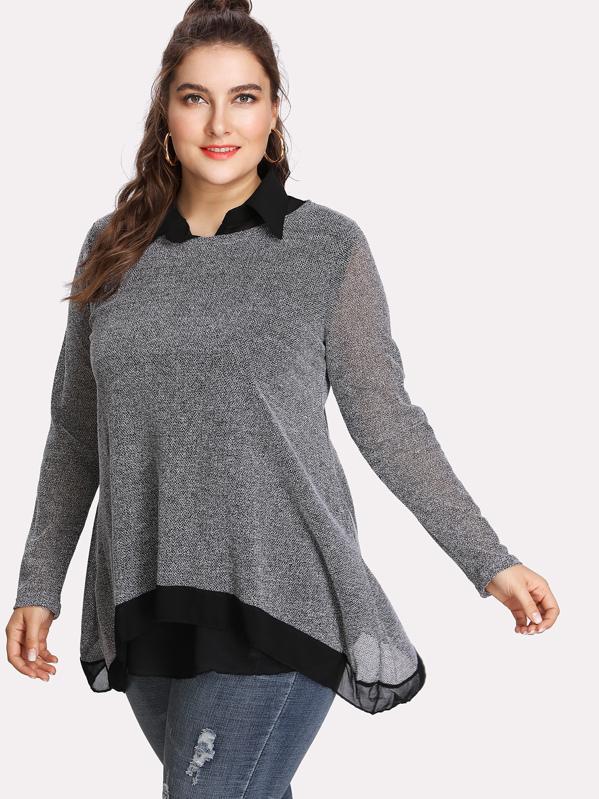 Модный асимметричный топ и модная блуза без рукавов, Franziska