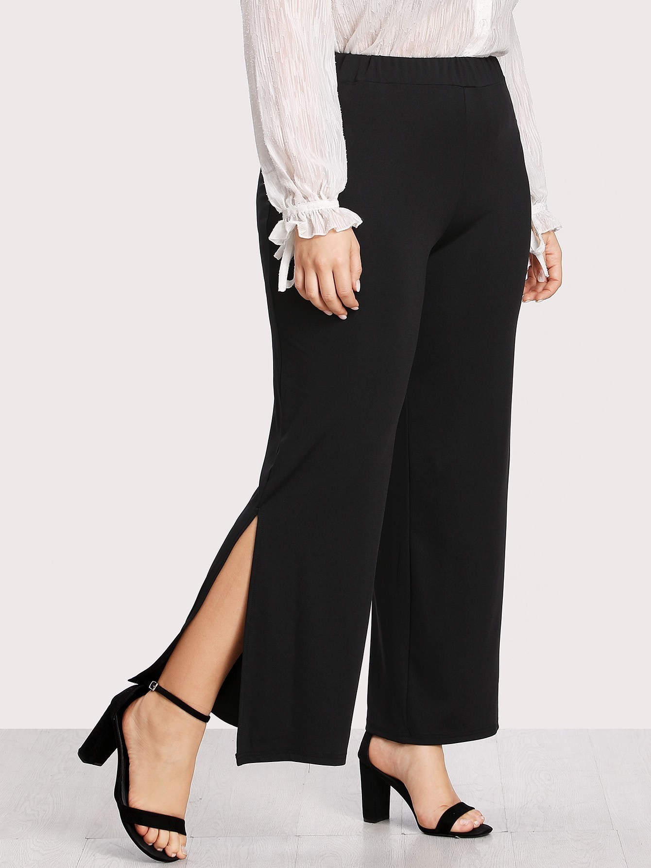 Split Side Wide Leg Pants bow tie side wide leg pants