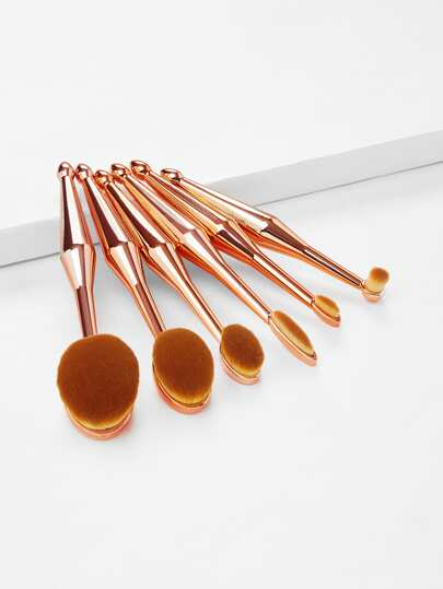 Metallic Multipurpose Makeup Brush 6pcs