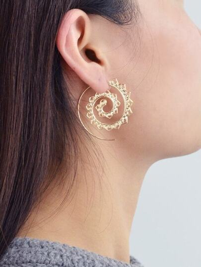 Hollow Out Spiral Earrings For Women
