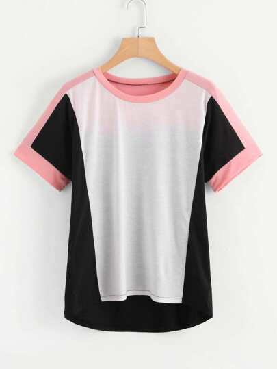 Cut And Sew Short Sleeve Tee