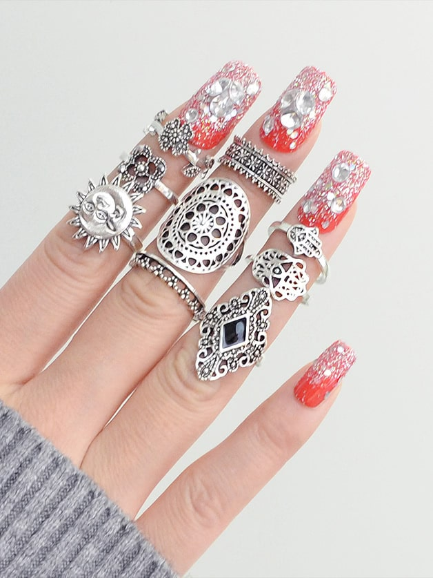 Hollow Ring 9 Sets