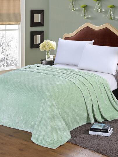 Solid Faux Fleece Textured Blanket