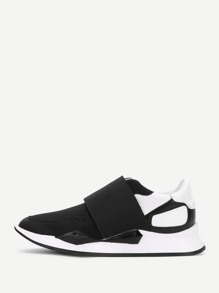 Two Tone Slip On Sneakers