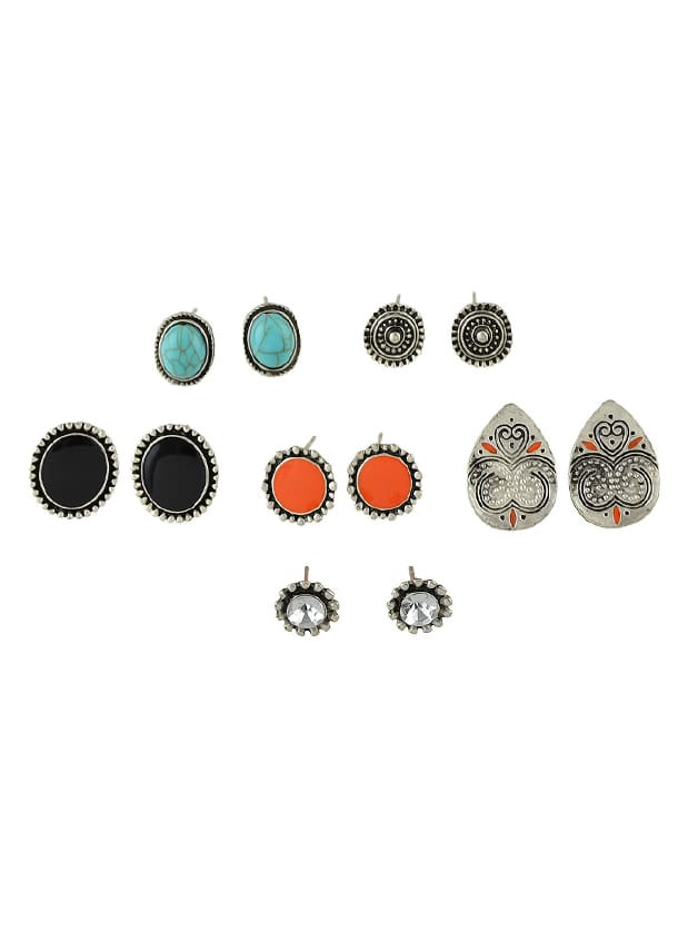 6 Paris/Set Ethnic Style Boho Chic Round Earrings ноутбук без напряга изучаем windows 7
