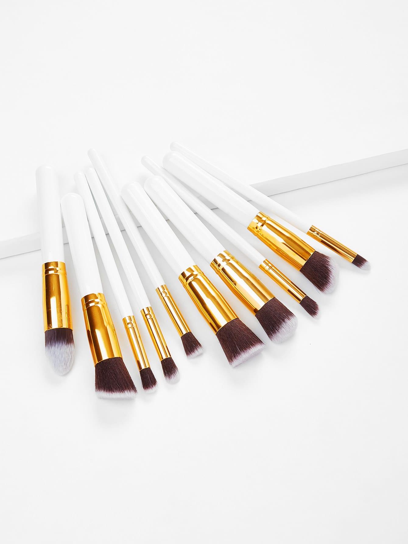 10PCS White Professional Makeup Brush Set