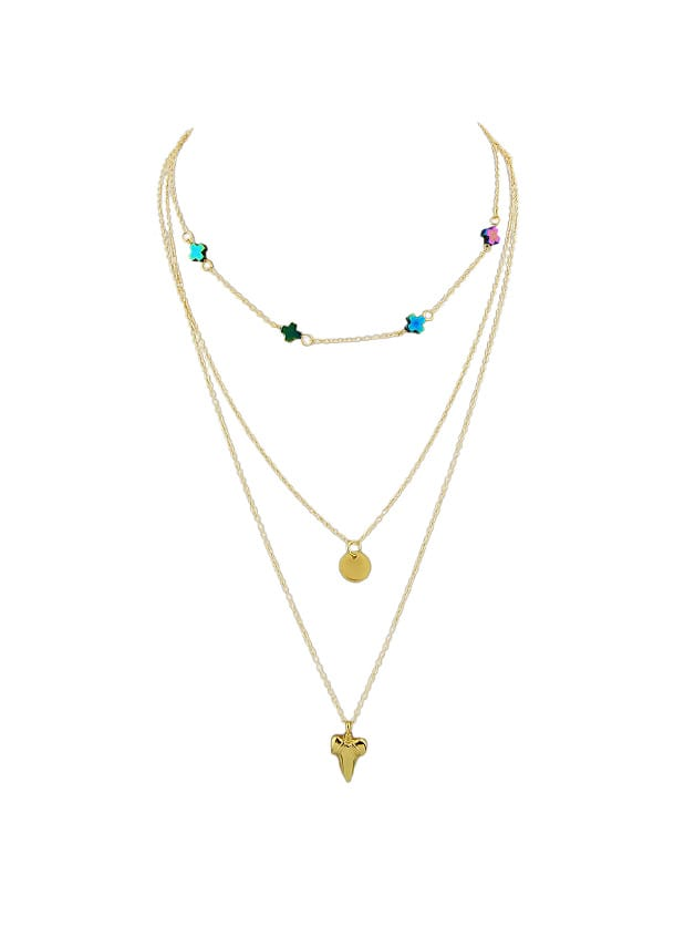 Gold Multi-Layer Necklace Sweater Chain Necklace все цены