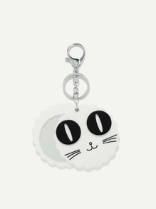 Cartoon Print Round Keychain