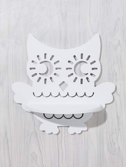 Cutout Owl Wall Shelf