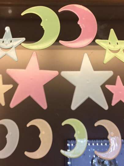 Glow Moon & Star Wall Sticker