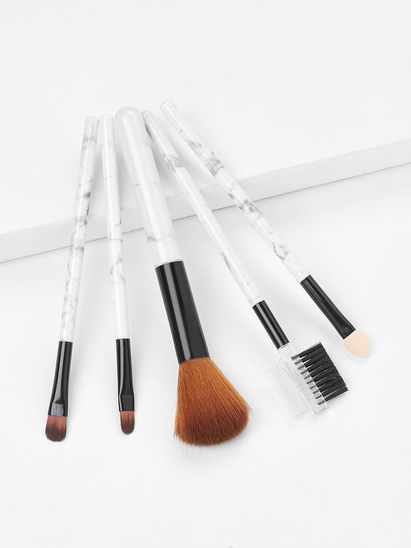Floral Handle Makeup Brush 5pcs