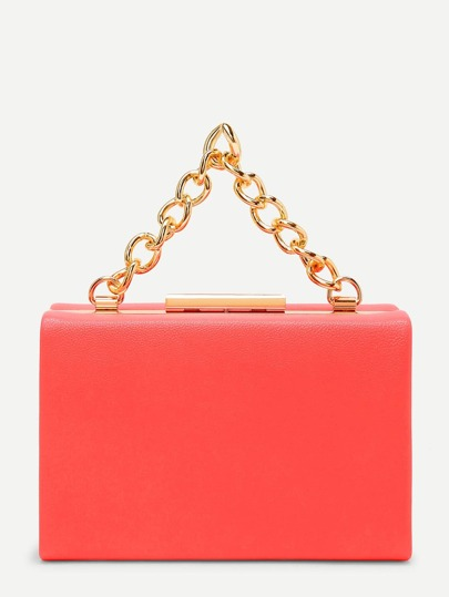 PU Clutch Bag With Chain