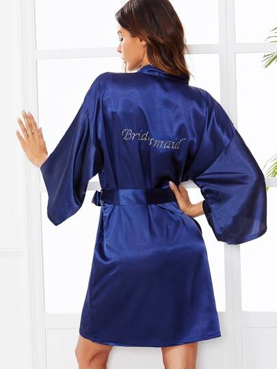Self Tie Wrap Bride Robe