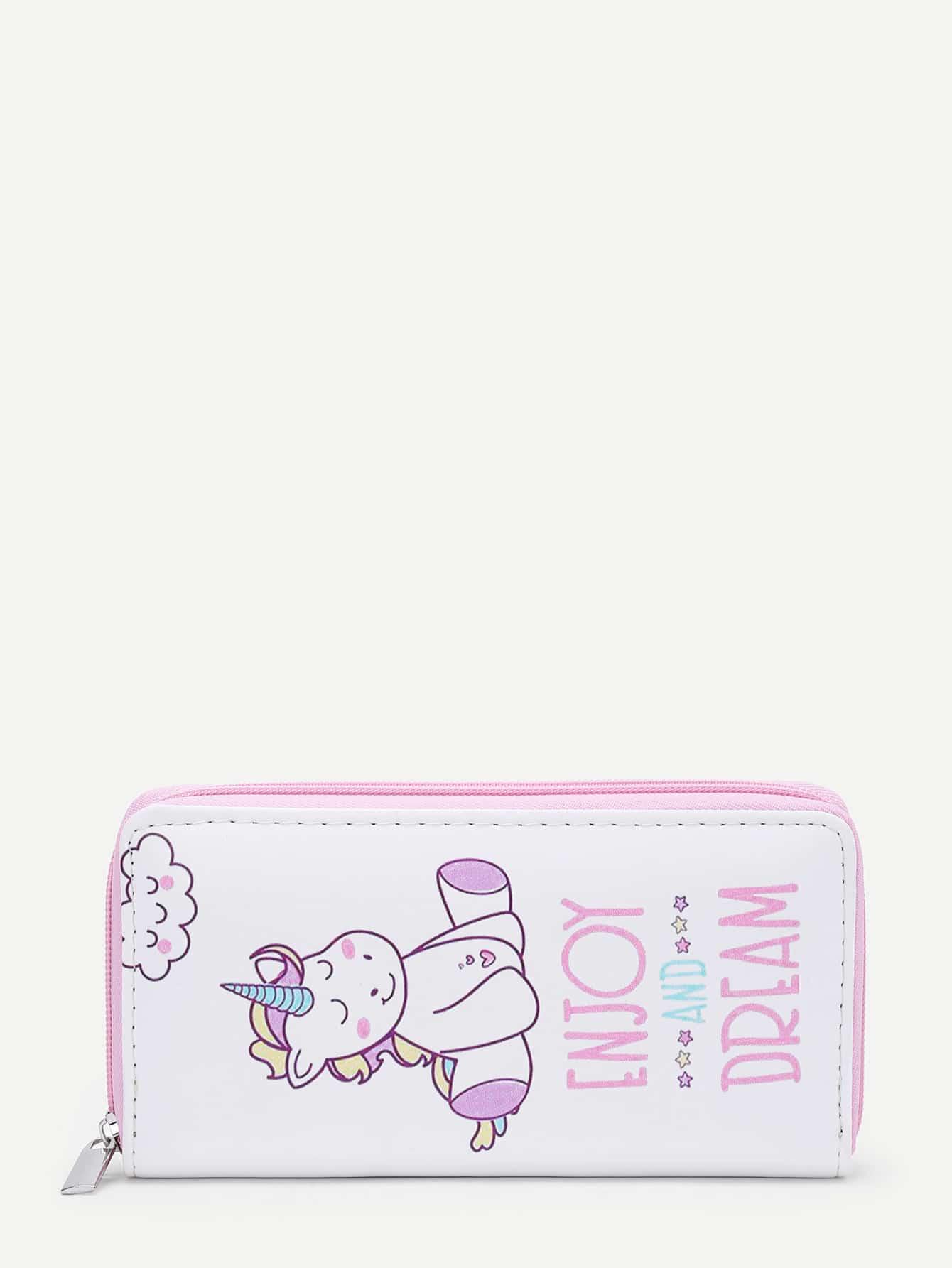 Unicorn Print PU Purse flower print pu purse