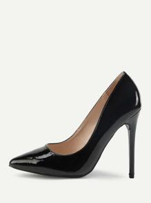 Stiletto Pointed Toe PU Heels