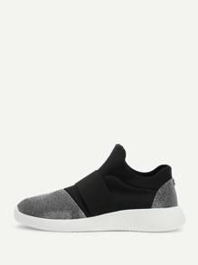 Color Block Slip On Sneakers